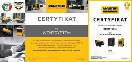 Części eksploatacyjne do nagrzewnic Master B 100 CED, B 100 CEG i B 95 CEL - kod 4519.014