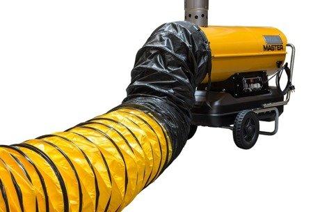 Nagrzewnica olejowa Master BV 110 E + przewody giętkie PVC 7,6 m + zestaw podłączeniowy