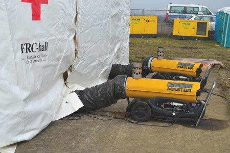 Nagrzewnica olejowa Master BV 170 E + przewody giętkie PVC 7,6 m + zestaw podłączeniowy